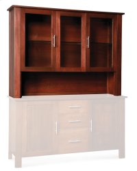 "East Village Open Hutch Top, 62"", Antique Glass Product Image"