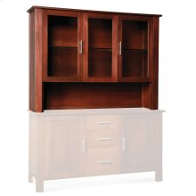 "East Village Open Hutch Top, 62"", Antique Glass"