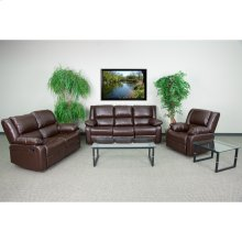 Harmony Series Brown Leather Reclining Sofa Set