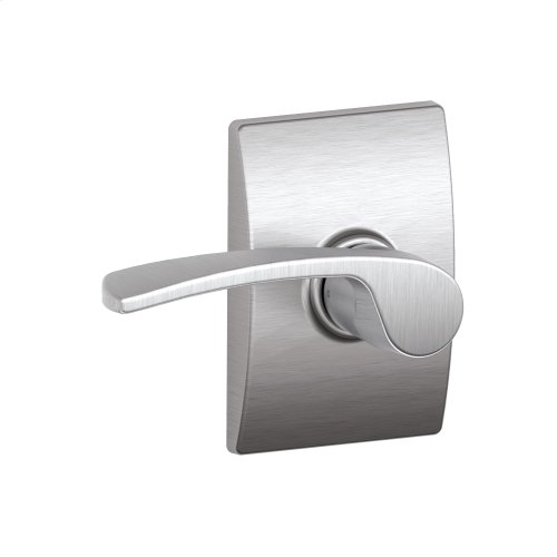 Merano lever with Century trim Hall & Closet lock - Satin Chrome