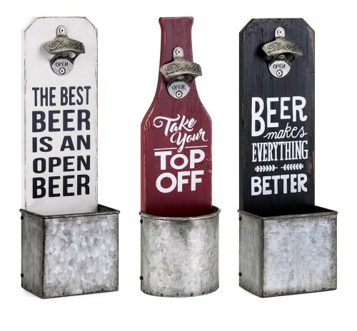 Grayson Beer Plaques with Opener - Ast 3