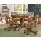 Mitchell Three-in-one Amber Game Table and Four Arm Chairs Product Image
