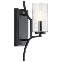 Vara 1 Light Wall Sconce Distressed Black