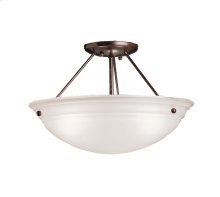 Cove Molding Top Glass Collection Cove Molding 3 Bulb Semi Flush Ceiling Light TZ