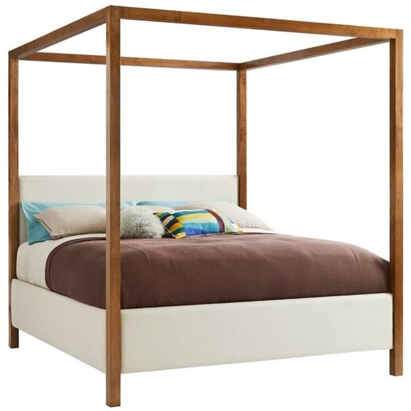 Incroyable Panavista Archetype Canopy Bed   Queen In Goldenrod