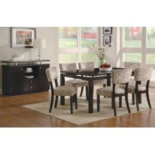 Libby Transitional Cappuccino Five-piece Dining Set