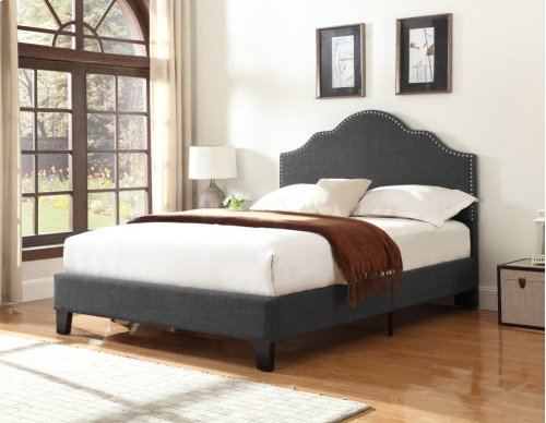 Emerald Home Madison Upholstered Bed Kit King Charcoal B131-12hbfbr-13my
