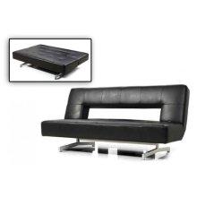 Divani Casa Wilshire - Modern Fold-Out Black Leatherette Sofa Bed