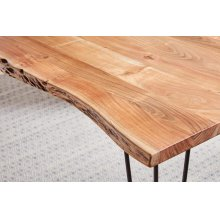 Industrial Natural Acacia Dining Table