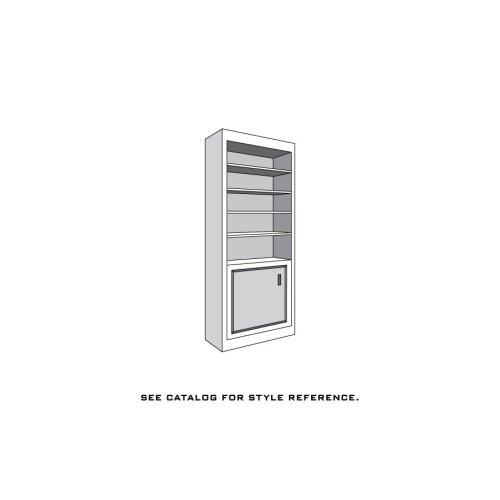 "Loft Bookcase Unit, 1-Wood Door on Bottom, 4-Adjustable Shelves, 18""w"