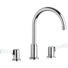 "Elkay 8"" Centerset Concealed Deck Mount Faucet with Arc Spout and 4"" Lever Handles Chrome"