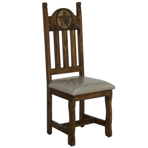 Dining chair with cushion seat and stone star