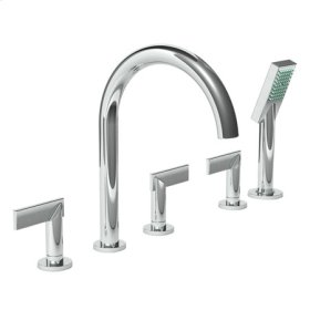 Polished-Nickel Roman Tub Faucet with Hand Shower