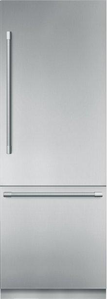 30-Inch Built-in Stainless Steel Professional Two Door Bottom Freezer