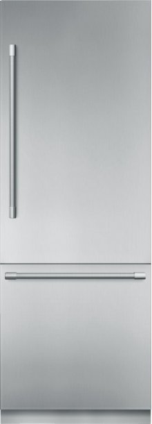 30-Inch Built-in Stainless Steel Professional Two Door Bottom Freezer