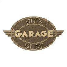 Moderno Garage Personalized Plaque - Antique Brass
