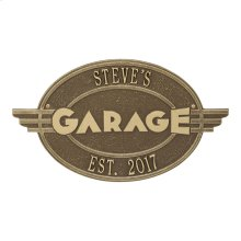 Moderno Garage Personalized Plaque - Antique Brass