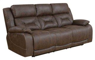 Aria Power Headrest Reclining Sofa, Saddle Brown