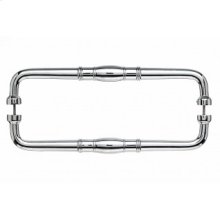 Normandy Door Pull Back to Back 12 Inch (c-c) - Polished Chrome