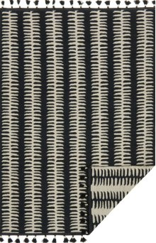 Black / Grey Rug
