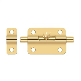 "3"" Barrel Bolt - PVD Polished Brass"
