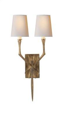 Visual Comfort S2120GI-NP Studio Bristol 2 Light 8 inch Gilded Iron with Wax Decorative Wall Light
