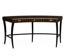 Curved Art Deco Macassar Ebony High Lustre Desk