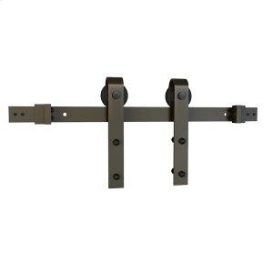 "Sliding Barn Door Hardware - 6'6"" J Strap - Satin Nickel Product Image"
