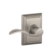 Accent Lever with Addison trim Hall & Closet Lock - Satin Nickel