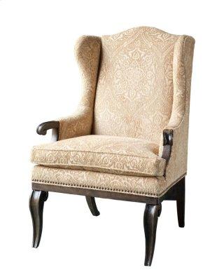Continental Wingback Arm Chair - Vintage Melange