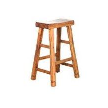 "30""H Sedona Saddle Seat Stool w/ Wood Seat"