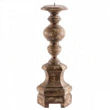 Petite Roma Antique Brown Candlestick