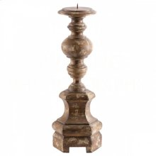 Petite Roma Antique Brown Candlestick