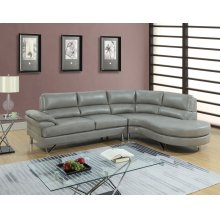 F6570 / Cat.19.p28- 2PCS SECTIONAL GREY