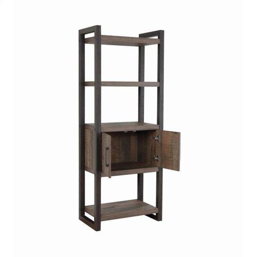 Luke Weathered Oak Bookcase