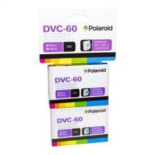 Polaroid 60-Minute Mini DV Digital Videocassette PRDVC600002, 2-Pack