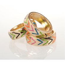 BTQ Gold Graphic Rings - Set of 3