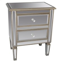 Eden Accent Table in Antique Silver