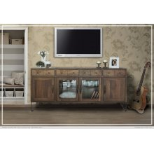 "80"" TV Stand w/4 Drawer, 2 Door & 2 Glass Door"