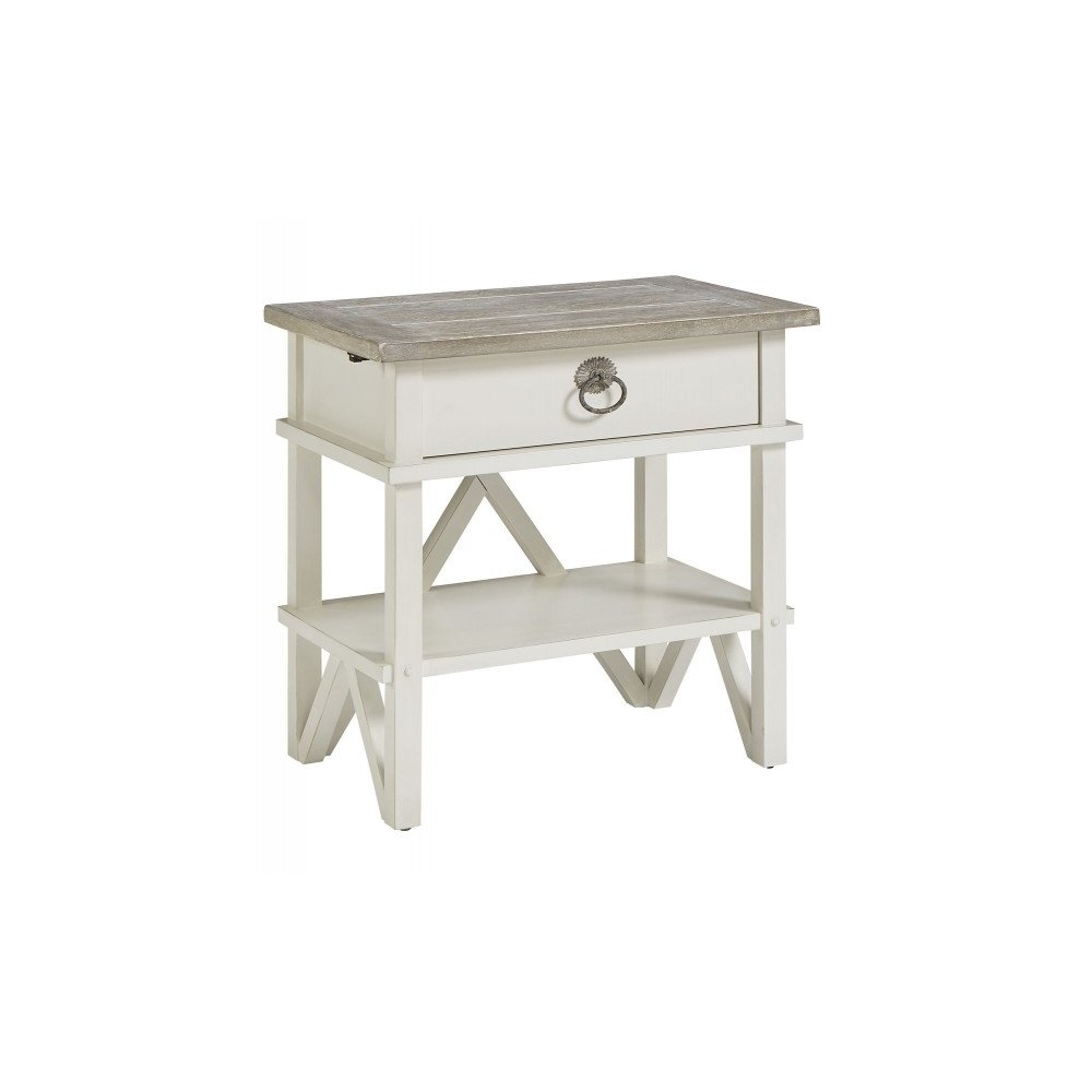 Summer Creek Berkshires White Bedside Table