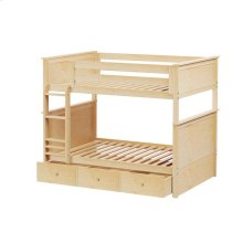 Full/Full Bunk   Trundle Storage Natural