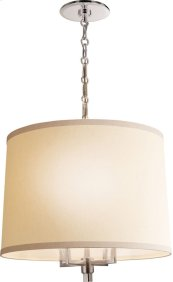 Visual Comfort BBL5030SS-L Barbara Barry Westport 4 Light 24 inch Soft Silver Hanging Shade Ceiling Light