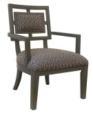 Sydney Geometric Pattern Grey Accent Chair Product Image