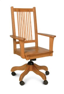 Prairie Mission Arm Desk Chair, Fabric Cushion Seat
