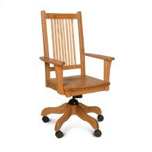 Prairie Mission Arm Desk Chair, Fabric Cushion Seat