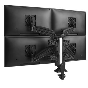 Chief ManufacturingKX Low-Profile Quad Monitor Arms, Column Desk Mount, Black