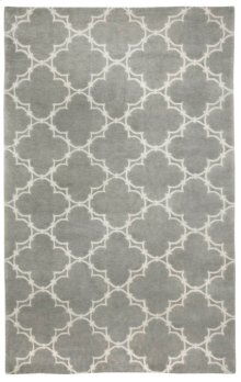 Quatrefoil Gray Ivory Hand Knotted Rugs