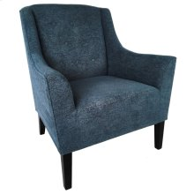 Sullivan Upholstered Blue Button Tufted Arm Chair