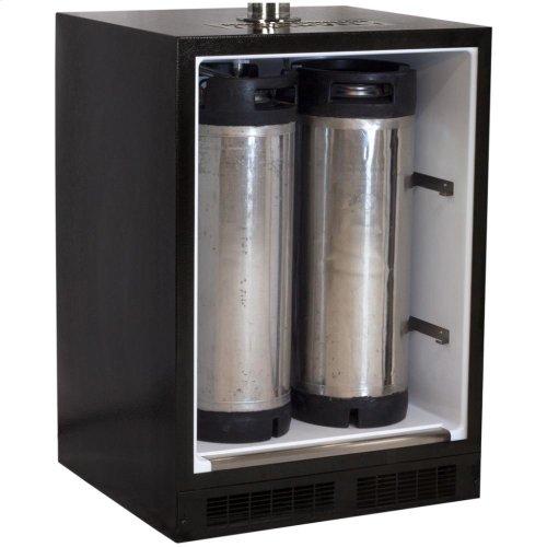 Built-In Indoor Twin Tap - Marvel Refrigeration - Solid Stainless Steel Door - Left Hinge