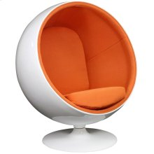 Kaddur Fiberglass Lounge Chair in Orange